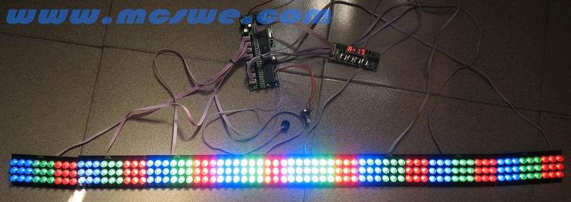 条型led跑马灯dmx解码控制板
